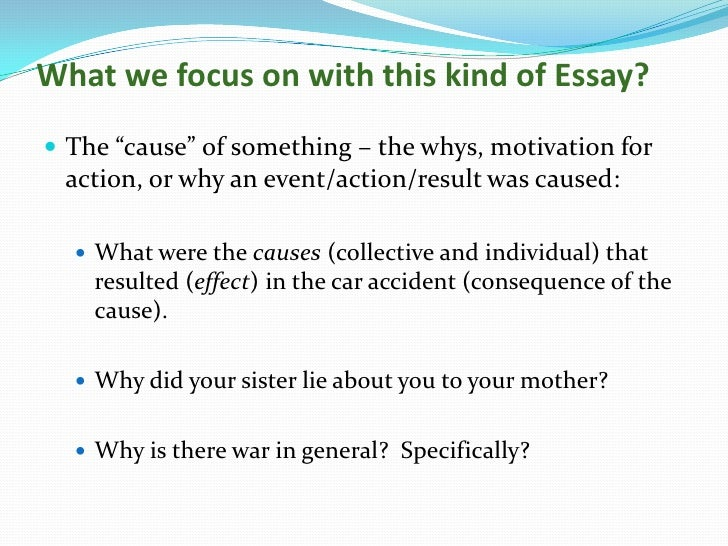 cause and effect essays cause and effect essays<br >using consequential reasoning<br > 2