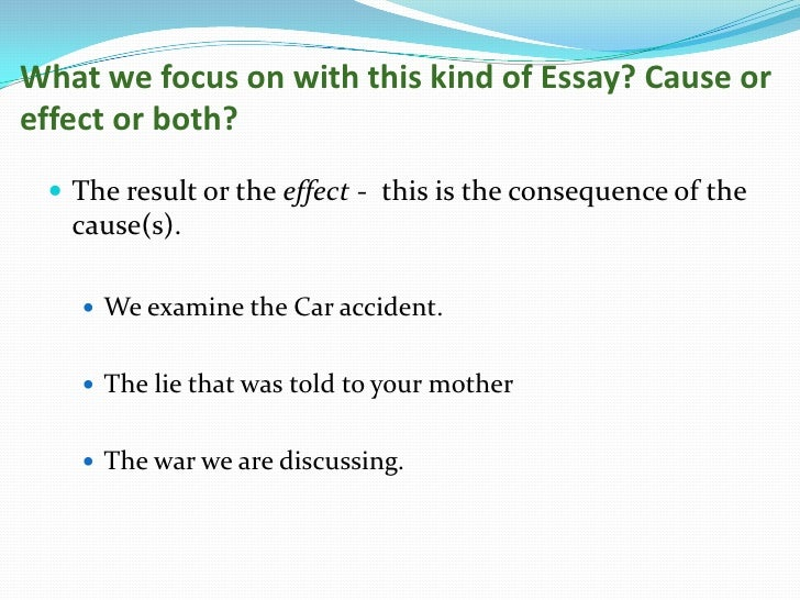 Buy cause and effect essay