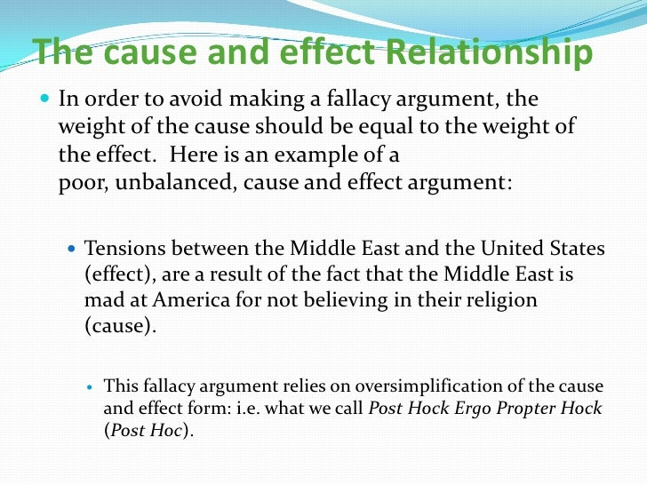 cause & effect essay