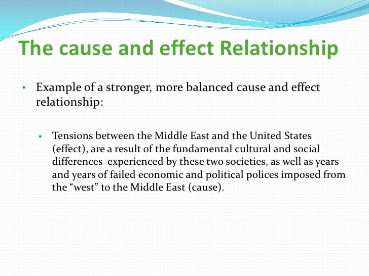 cause and effect causal relationship example