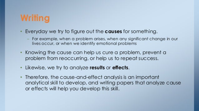 example cause and effect essay
