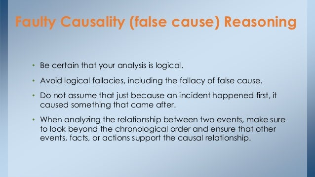 false causal relationship examples