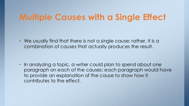 multiple causes one effect