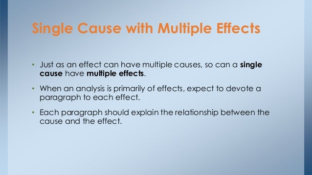 cause and effect essay pdf