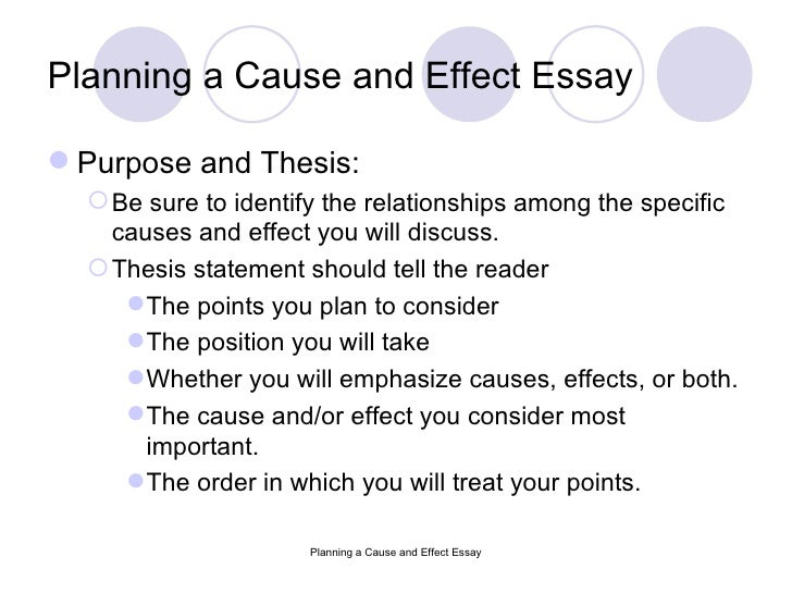 cause and effect thesis examples How to write a cause and effect essay: format, structure, topics, outline, examples.