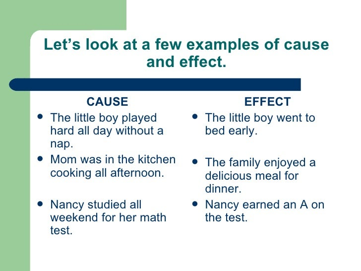 cause and effect examples - photo #5