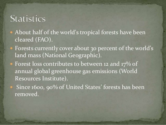 Cause and effects of deforestation
