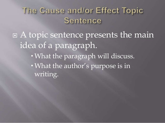 how to end a cause and effect paragraph