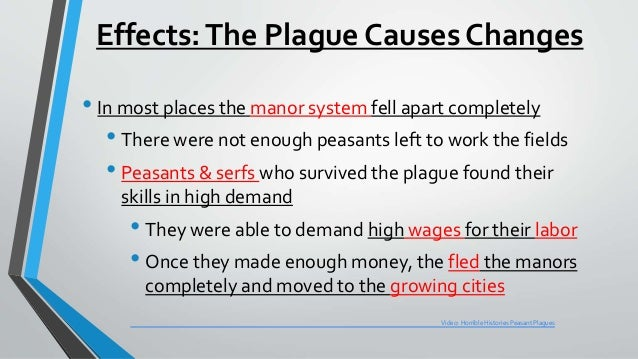 The positive effects of the bubonic plague