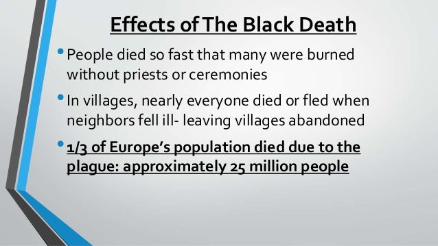 Social and Economic Effects of Black Death on Europe