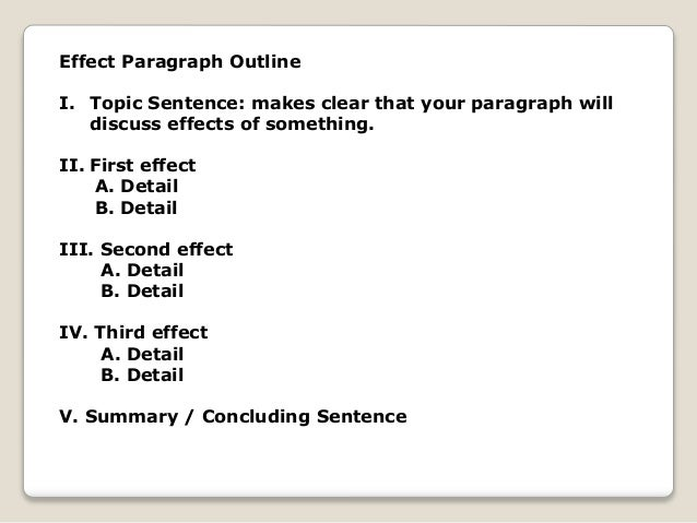 cause and effect essay outline