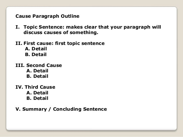 Outline of a cause and effect essay