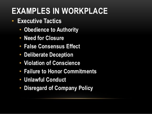 Unethical organizations examples.