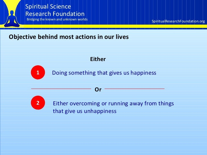 How the spiritual dimension affects our lives  Part 1 of 3 Slide 2
