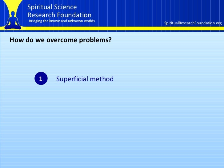 How the spiritual dimension affects our lives  Part 1 of 3 Slide 3