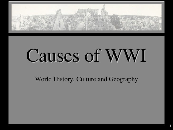 World History, Culture and Geography Causes of WWI