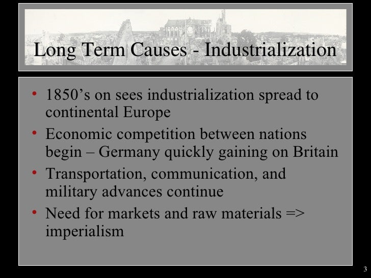 causes of wwi  2007