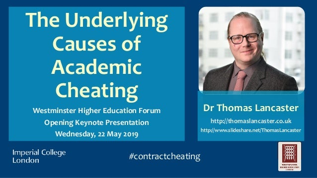 The Underlying Causes of Academic Cheating - Westminster