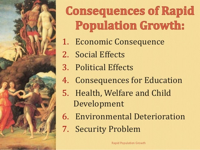 Causes and Consequences of Rapid Population Growth