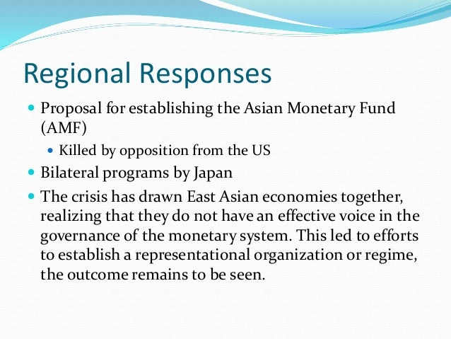 cause of the asian financial crisis The east asian currency crisis a survey of the debate on its causes and  possible solutions in 1997, financial market tension in east asia gave rise to.