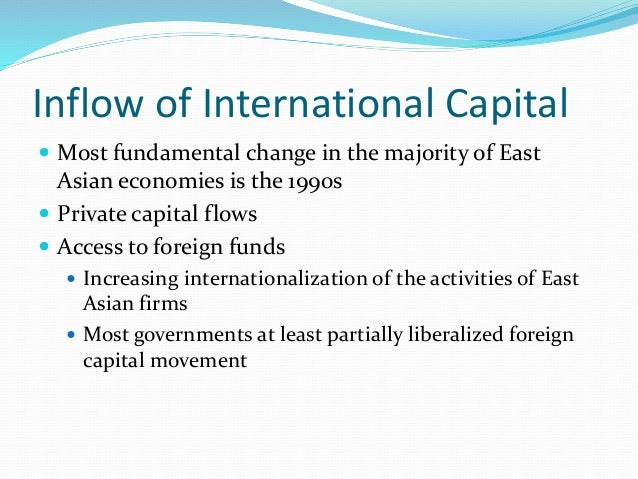causes of the asian currency crisis The asian financial crisis was a period of financial crisis that gripped much of  east asia  the asian financial crisis: causes, cures, and systemic implications  (institute for international economics, 1998) online kaufman, gg, krueger, th, .