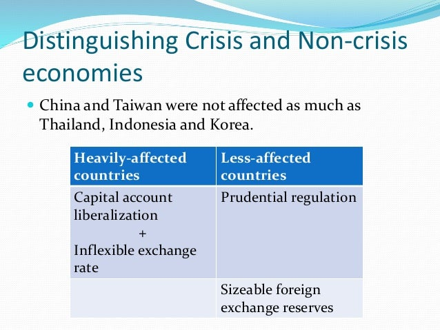 the cause of the asian financial The origins of the financial crisis crash course the effects of the financial crisis are still being felt, five years on this article, the first of a series of five.