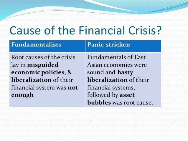 Asian financial crisis explained