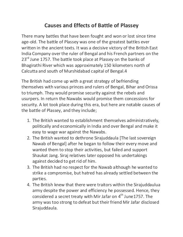 essay on battle of plassey Battle of plassey lord clive meeting with mir jafar after the battle of plassey, oil on  sample essay on the facts  battle of plassey – battle of.