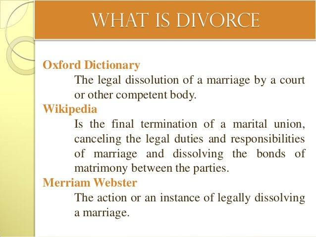 an introduction to the causes of divorce in modern world Introduction to sociology/introduction  humans like to attribute causes to events and attempt to understand  our social world: introduction to sociology.