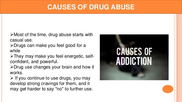 cause and effect essay drug addiction Drug abuse: problem and solution drug abuse is becoming a problem in our society what are the causes of this and what are some solutions drug abuse is rife in many countries billions of dollars are spent internationally preventing drug use, treating addicts, and fighting drug-related crime although drugs threaten many societies, their effects can also be combated successfully this essay.