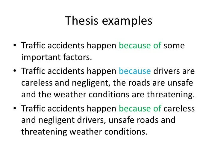 Causes of Road Accidents