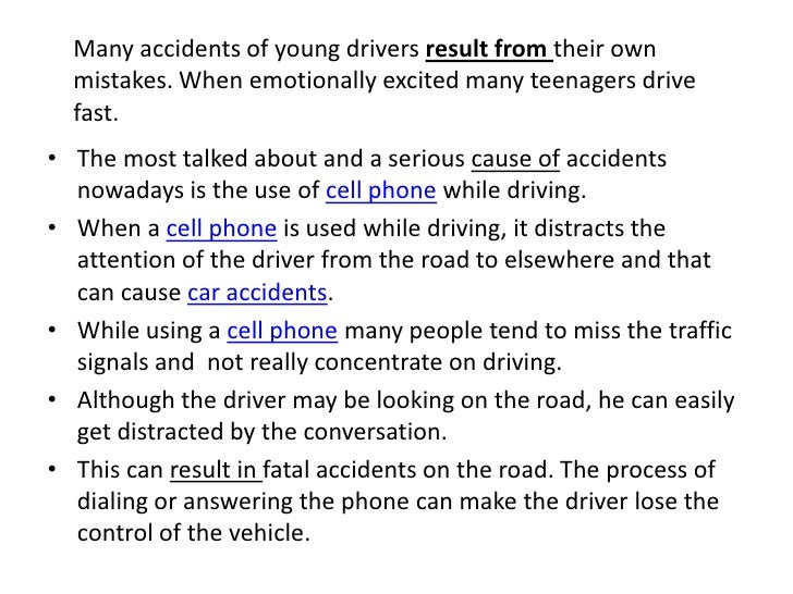 Cause and effect drinking and driving essay