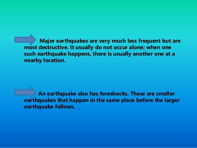 understanding the causes and effects of an earthquake Take the earthquake quiz, view a rotating globe showing earthquake locations, or read famous accounts of earthquakes toggle navigation understanding earthquakes accounts.