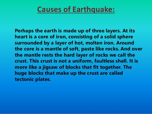 understanding the causes and effects of an earthquake Understanding the causes of poverty through the interaction of complex forces is a vital step toward combating poverty around the world here are the 5 leading causes.