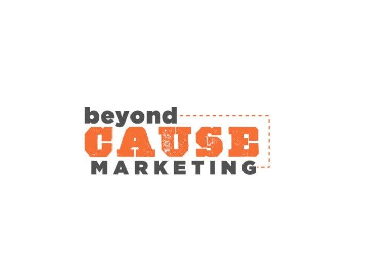 Beyond Cause Marketing Summit 2010
