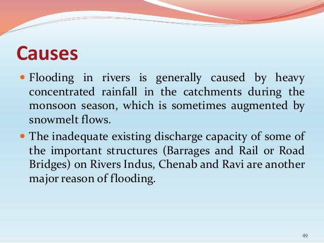 the impact of the floods essay