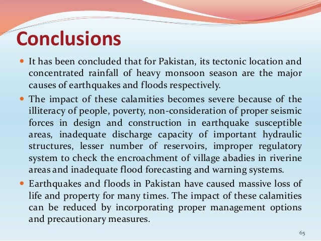 Causes Impacts Amp Management Of Eq And Floods In Pakistan