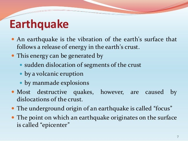 Essay on Earthquake