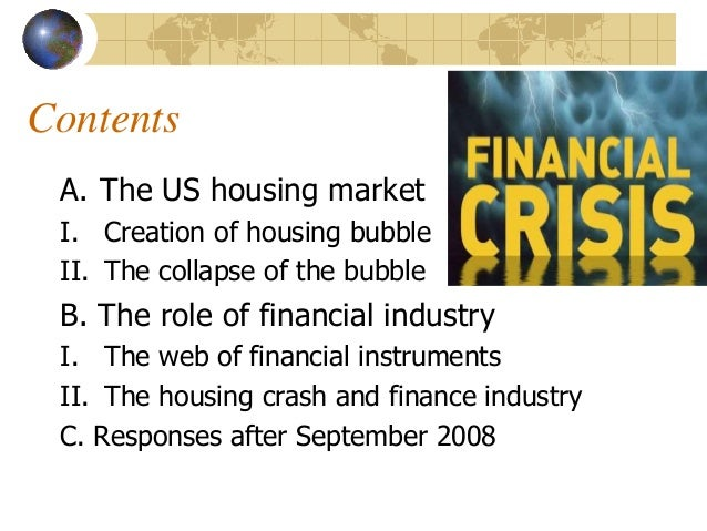 causes of the financial crisis of By brian perryin this chapter, we'll examine the causes of the credit crisis, starting with the decline in the housing market that eventually led to increased levels of mortgage defaults.