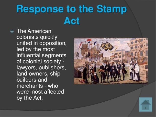 Response To The Stamp Act