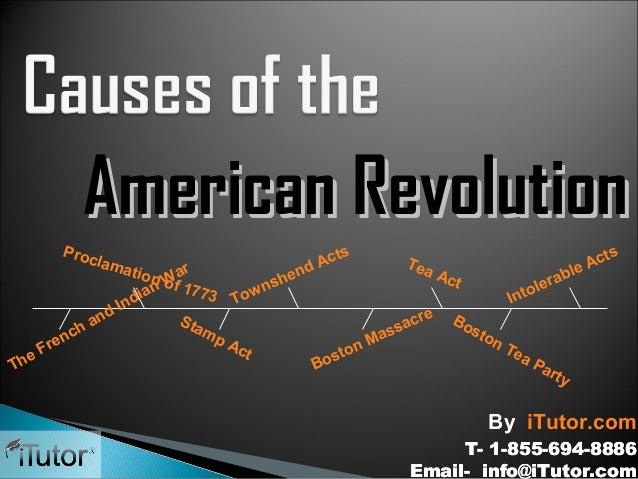American Revolution Proc s ts lam Act Tea Ac d r atio le Act n of a hen W1 rab e ns 773 tol ian ow In T In d d re Bo Sta a...