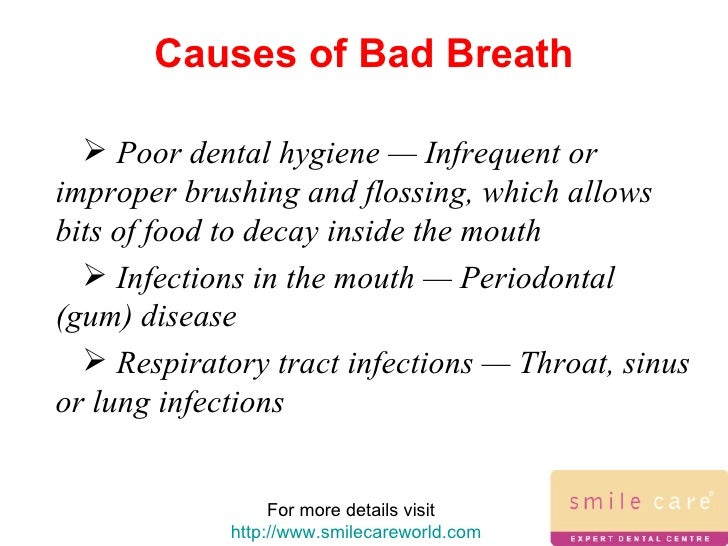 causes of bad breath, Human Body