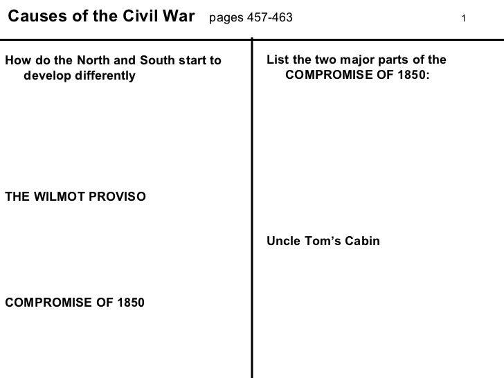 causes of the civil war worksheet Termolak – Civil War Worksheet