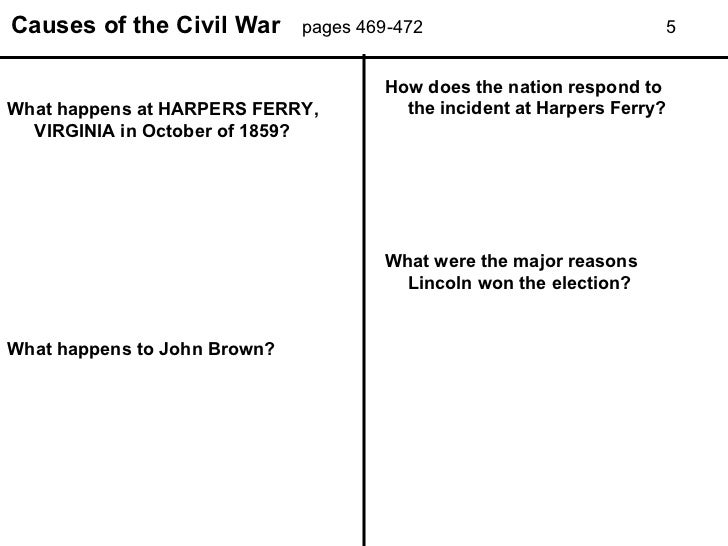 a research on the causes of the civil war An essay or paper on causes & effects of the civil war slavery as the main cause of the civil war the american civil war all papers are for research.