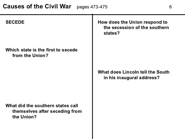 causes of the civil war worksheet Termolak – Civil War Timeline Worksheet