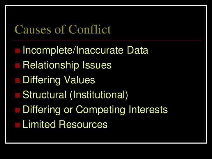 causes and consequences of conflict Interpersonal conflict, often spiraling to violence and abuse, is one of the most daunting challenge.