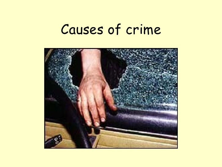 Causes of crime