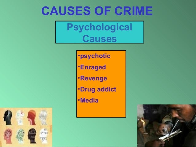 what causes crime There is no one single cause of crime like violence and any other behavior-related phenomenon, crime is multi-determined and complex one problem we run into straight away, though, is the concept of crime itself.