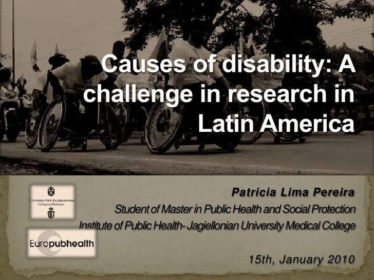 Patricia Lima Pereira<br />Student of Master in Public Health and Social Protection<br />Institute of Public Health- Jagie...