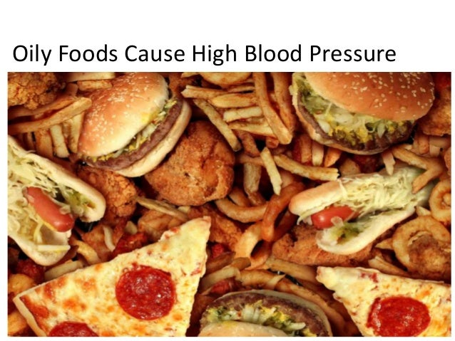 Causes of high blood pressure or hypertension for Cuisine for a cause